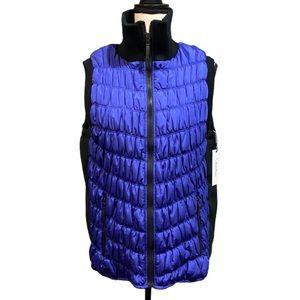 Calvin Klein Plus Size Blue Puffer Vest NWT